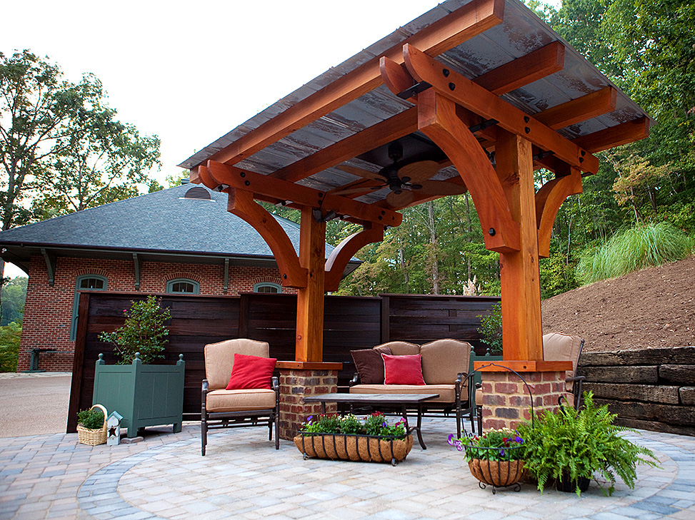 2 post pergola designs - Pergola with roof ...